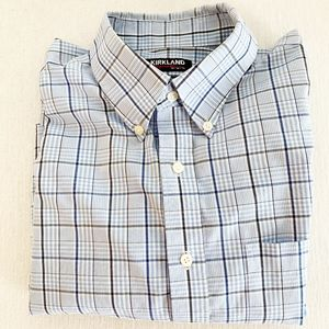 Kirkland Men's Plaid Oxford Shirt Size L